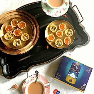 Chutney Cheese & Jam Herbs Tarts Platter with Taj Mahal Tea