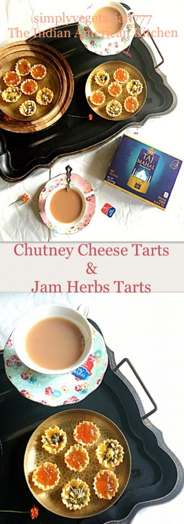 Chutney Cheese & Jam Herbs Tarts Platter with Taj Mahal Tea