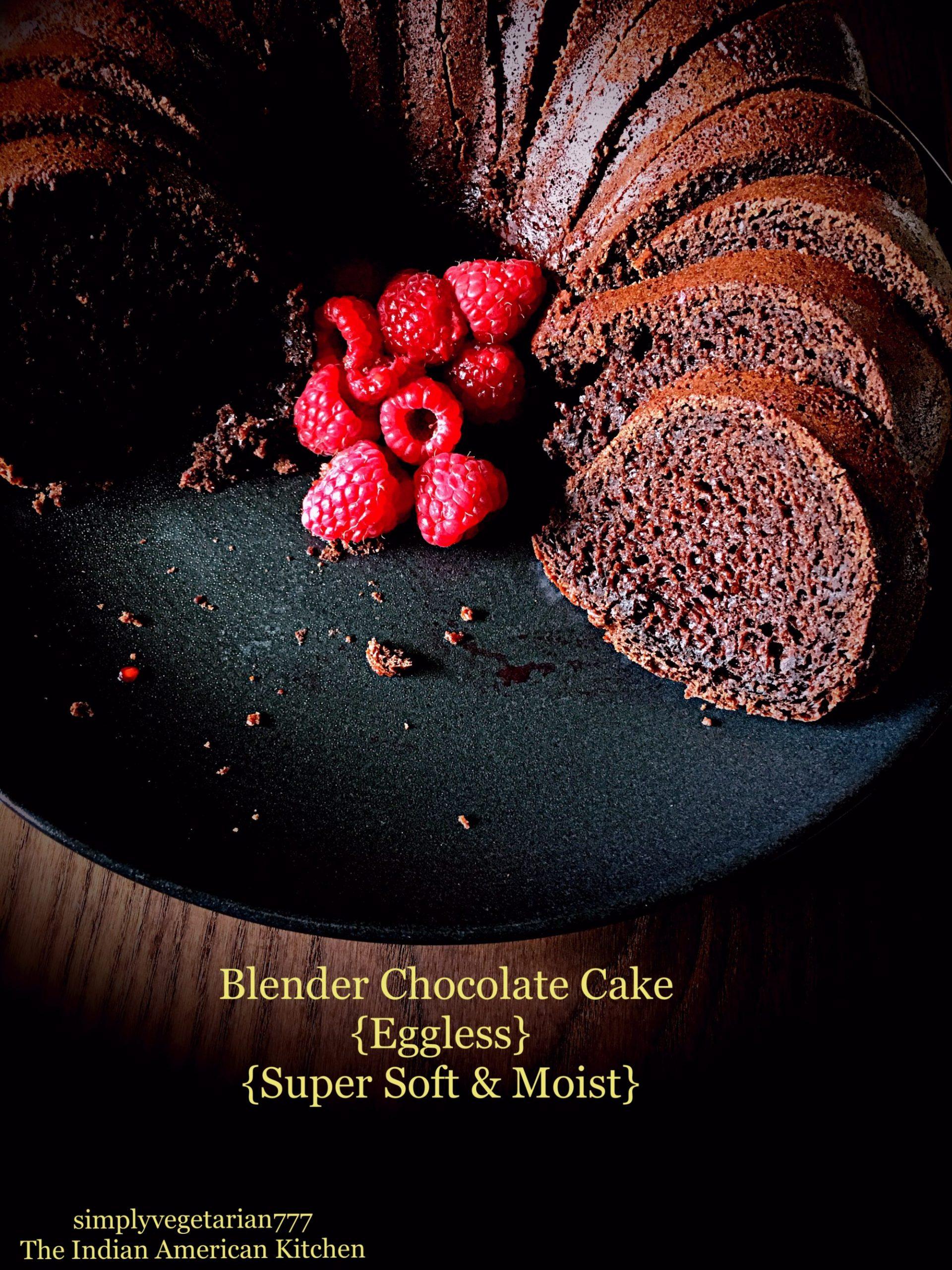 Blender Chocolate Cake {Eggless, Easy, Super Soft & Moist}