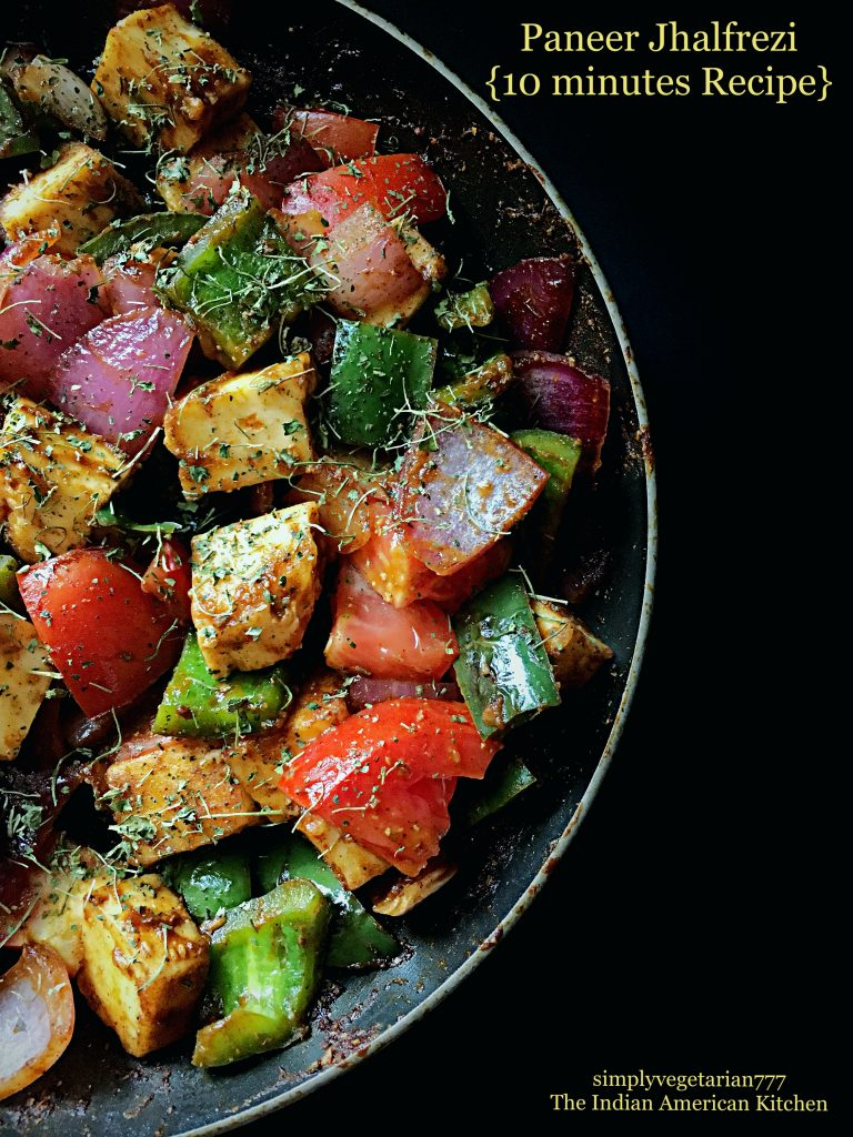 Paneer Jhalfrezi 10 Minutes Recipe is a quick version of delicious and popular restaurant style recipe. It is made with easily available ingredients and comes together in 10 minutes. It is that easy. You can make it vegan by using Extra Firm Tofu. #paneerjhalfrezi #paneerjalfrezi #paneerjhalfreji #paneerjalfreji #paneerrecipes
