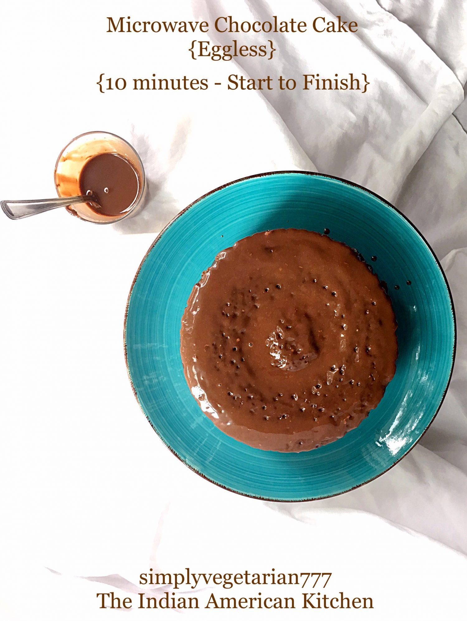 Microwave Chocolate Cake Eggless Quick Recipe ...