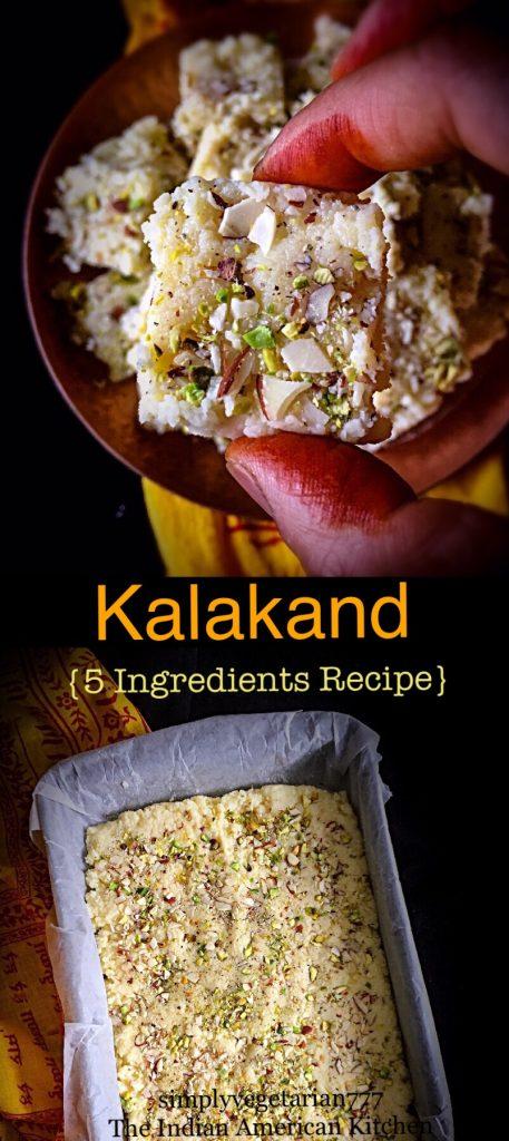 Kalakand - 5 Ingredients Quick & Easy Recipe