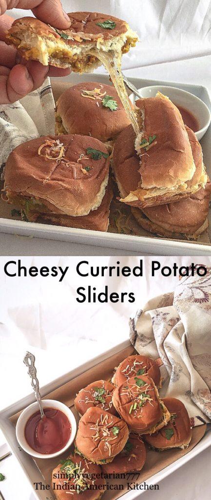 Cheesy Curried Potato Sliders