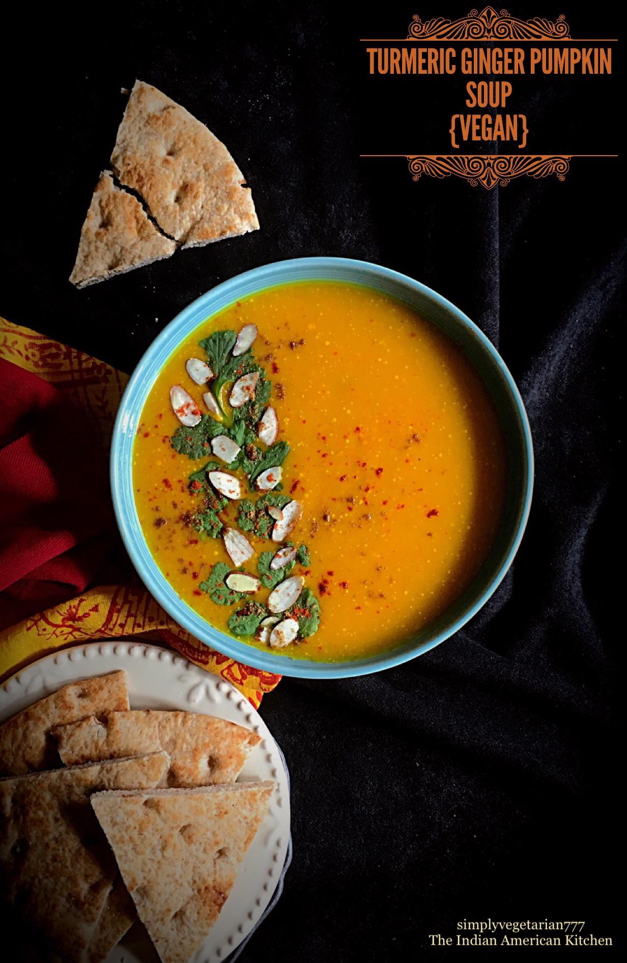 Turmeric Ginger Vegan Pumpkin Soup