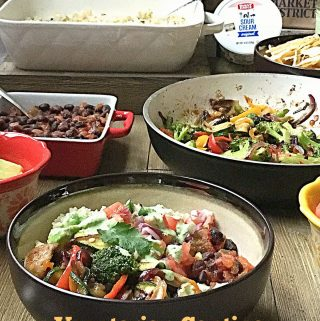 Vegetarian Cantina Salad Bowl, Tex Mex Salad Bowl, Giant Eagle Curbside Express Delivery #ad #GiantEagleDelivers