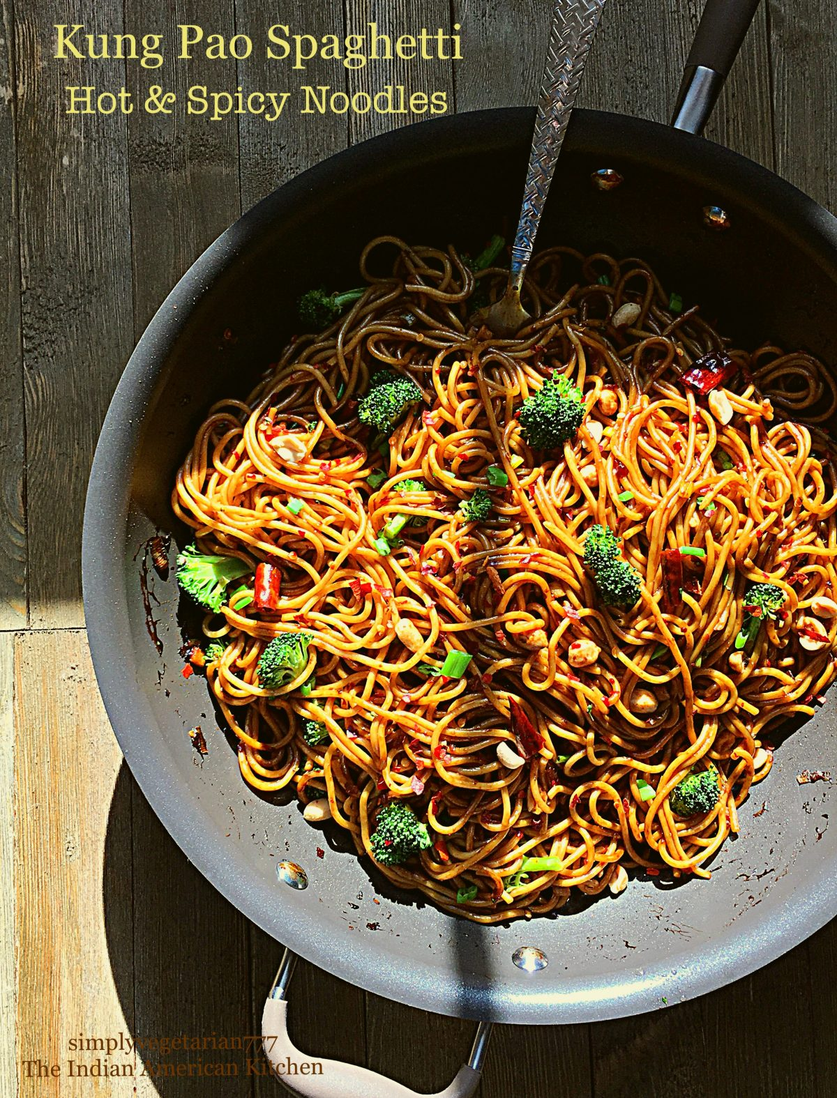 Kung Pao Spaghetti Hot Spicy Noodles is the perfect recipe that is easy, simple and oh-so delicious. It is made using Spaghetti with Asian flavors of spicy kung pao. A perfect Vegetarian Chinese Take Out can now be enjoyed at home. #vegetarianasianrecipes #kungpao #copycatCPKspaghetti #spicynoodles #spicyspaghetti #chinesetakeoutrecipes
