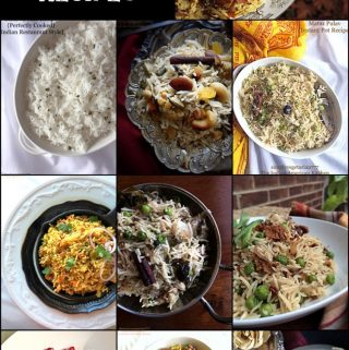 Best Vegetarian Pulav Recipes is a colelction of Pulavs or Pilafs Made with Basmati Rice and vegetables. Bookmark this post for your weekly meal planning or party needs. #pulav #pilaf #vegetablerpulav #rice #basmati #indianrice #pulao