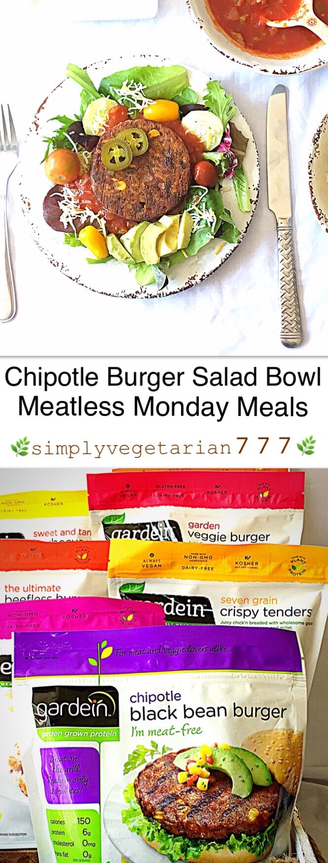 This Chipotle Salad Bowl Recipe is a keeper for your summer cookouts and barbeque get-togethers. These are super easy, super efficient and super delicious. Not only that, these Summer Salad Bowls are Healthy and completely Gluten Free. It is a perfect Meatless Monday Meal. #MeatlessMonday #Gardein #summerrecipes #saladbowls #chipotlebowls #chipotle #barbequerecipes #barbequepartysides #bbqsides #bbqglutenfreerecipes #bbqveganrecipes