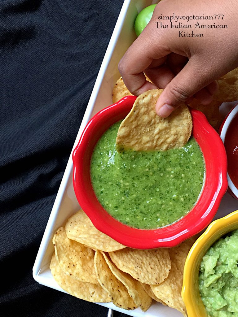 Salsa Verde Instant Pot Recipe is a finger-licking Mexican Sauce made with simplest ingredients. It is super easy to make in Instant Pot and is full of blasting flavors. IIt goes great with Nachos, Burritos, Fajitas, Tex Mex Bowls and more. #sauce #salsaverde #greensalsa #instantpotrecipe #mexican #mexicansauce