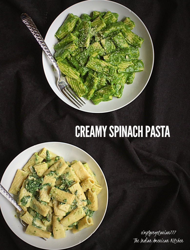 Creamy Spinach Pasta Instant Pot Recipe is an easy and delicious Pasta recipe made in Instant Pot. Tips to make Pasta are also mentioned in the post. You can prepare it in 2 ways. Small Video and Stove Top Instructions are also included. #instantpotrecipes #instantpotpasta #instantpotspinach #creamypasta #instantpotvegetarianrecipes #creamyspinachpasta
