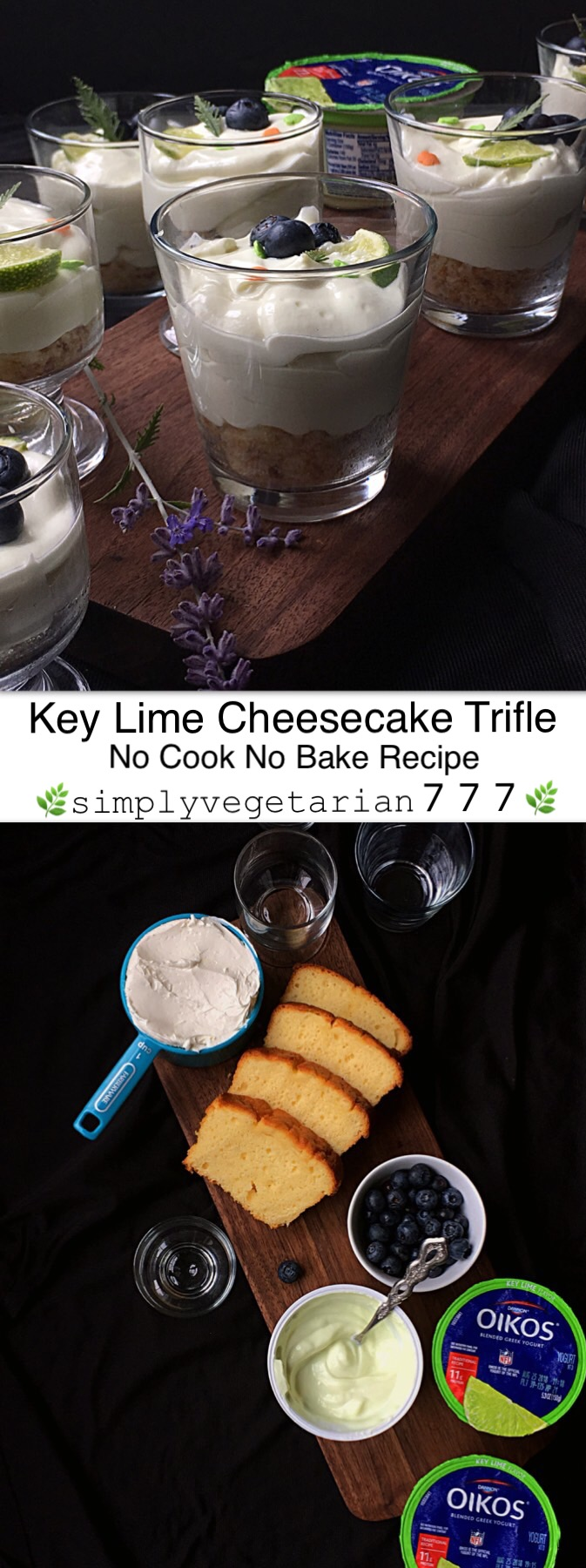 This Key Lime Cheesecake Trifle Recipe is super awesome, especially since it is a No Bake and a No cook Recipe. It is really an easy and simple dessert to put together. More so it is rich in protein and made with your favorite Greek Yogurt available at your convenient neighborhood store Walmart. #NotJustAHint #OikosAtWalmart #WholeLottaFlavor #OikosTraditionalAtWM #Trifle #Cheesecake #KeyLimeCheesecake