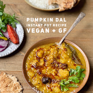 Instant Pot Pumpkin Dal is super delicious and is nutritious as well. It is super simple to make it in the Instant Pot. This Dal is best enjoyed warm with hot naan or rice. #dal #dhal #pumpkin #fallrecipes #veganpumpkin #instantpotvegetarian