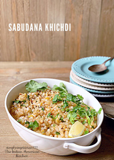Sabudana Khichdi Navratri Recipe is an easy, efficient and delicious recipe. Find Stove-top recipe as well as a small video in the post. It is gluten free and a vegan recipe. #fastingrecipes #sabudana #navratrirecipes