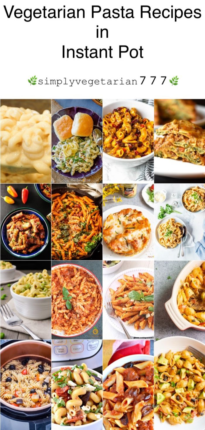 Vegetarian Pasta Instant Pot Recipes is an awesome collectionof delicious pasta cooked in Instant Pot. This collection is a great mix of different Pasta Recipes that are perfect for any season. It has Vegan & Vegetarian Pasta Recipes. There is pasta that is loved by kids and adults equally. #vegetarianpasta #veganpasta #instantpotpasta #vegetarianinstantpotrecipes