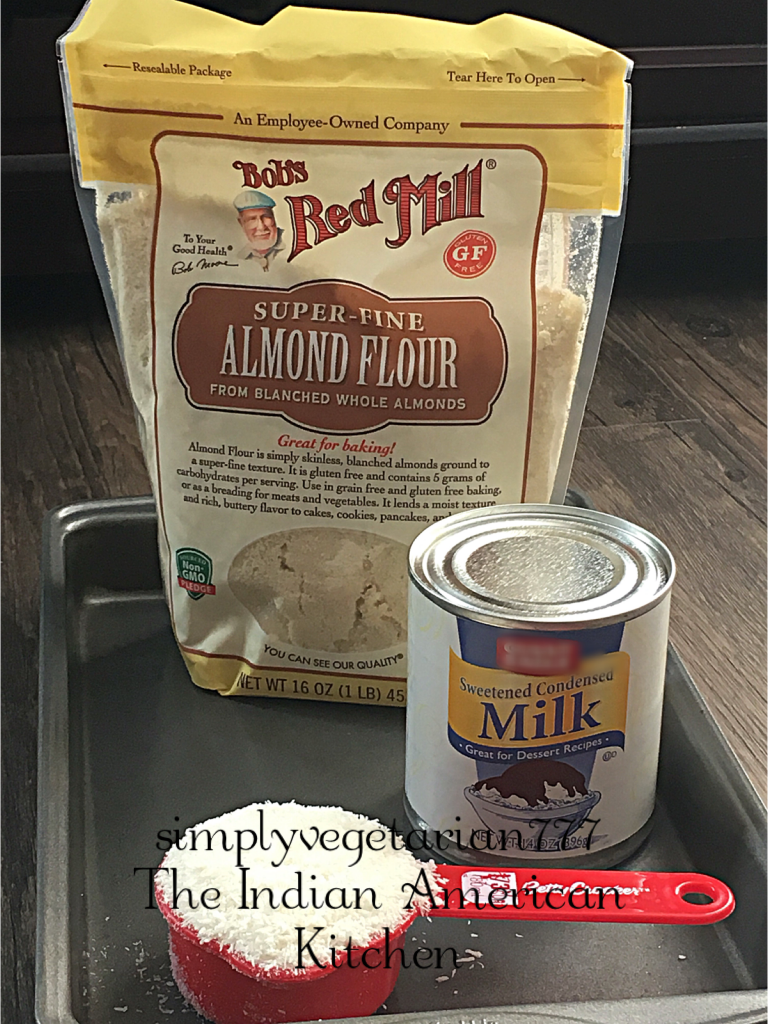 Almond Coconut Fudge is made with just 3 Ingredients. This fudge is so easy and quick to put together and is fingerlicking delicious. #fudge #easyfudgerecipe #easysnack #quickdessert #almondflour #bobsredmill