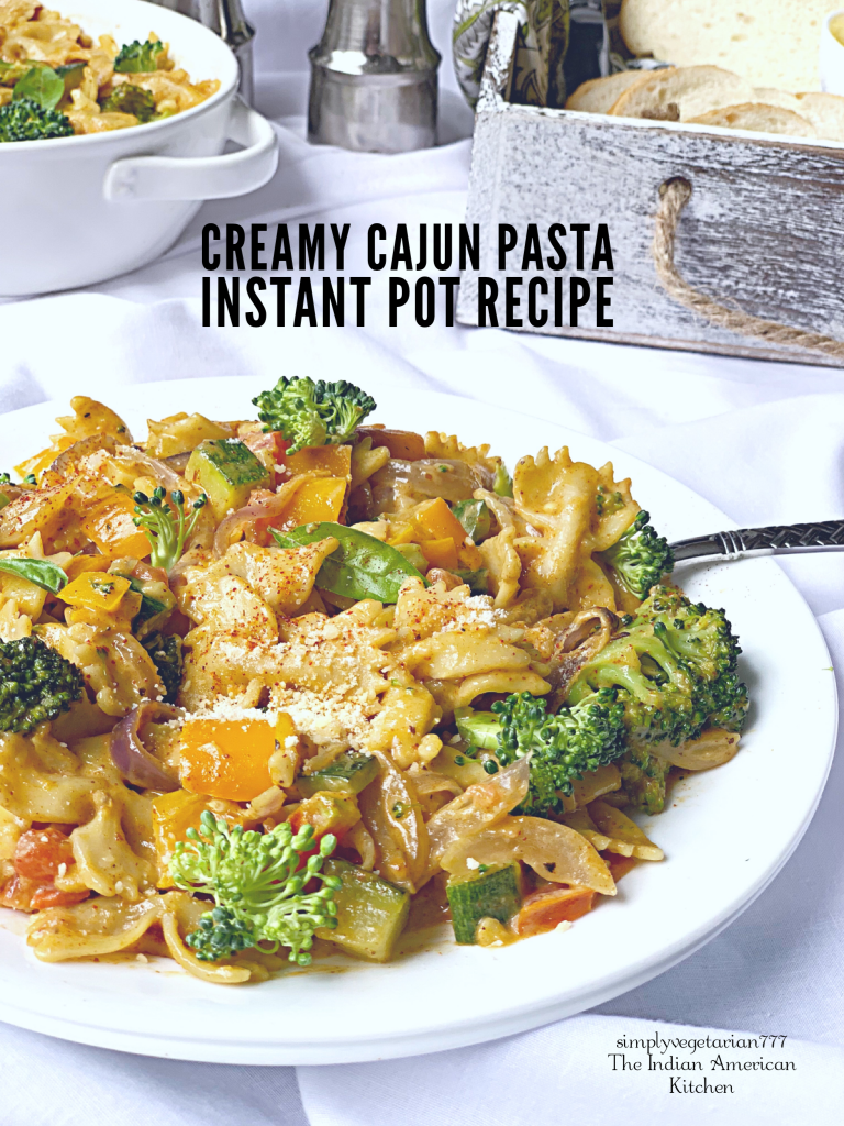 This Instant Pot Creamy Cajun Pasta is so creamy, delicious and easy to make. It is the perfect Pasta Recipe for Fall and Winters. Entertain your guests with this dish or make it for your family. #instantpotpasta #instantpotcajun #instantpotcreamycajunpasta #cajunpasta #thanksgiving #fallrecipes