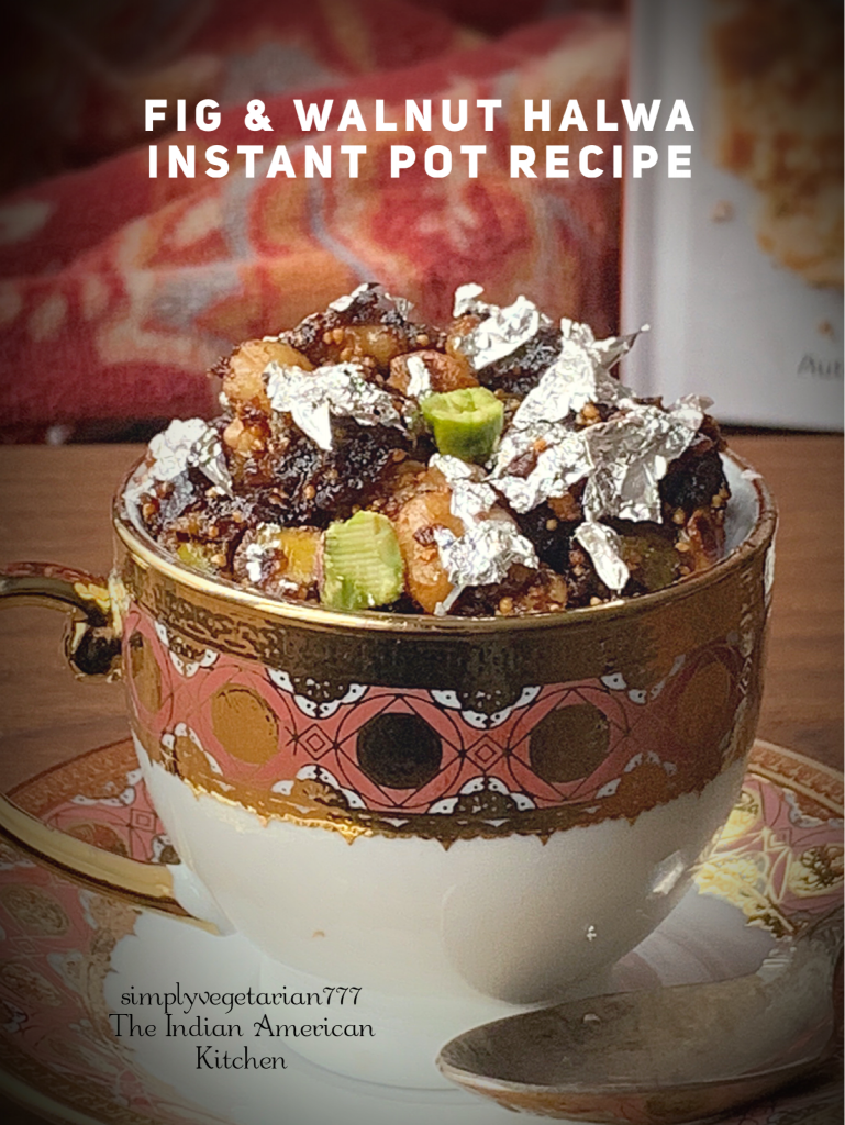 Fig Walnut Halwa is a delicious dessert made in Instant Pot. It is a simple and easy recipe. This halwa is perfect for celebrating any occasion or festival. #fig #walnut #halwa #instantpotdessert #sugarfreedessert #glutenfreedessert