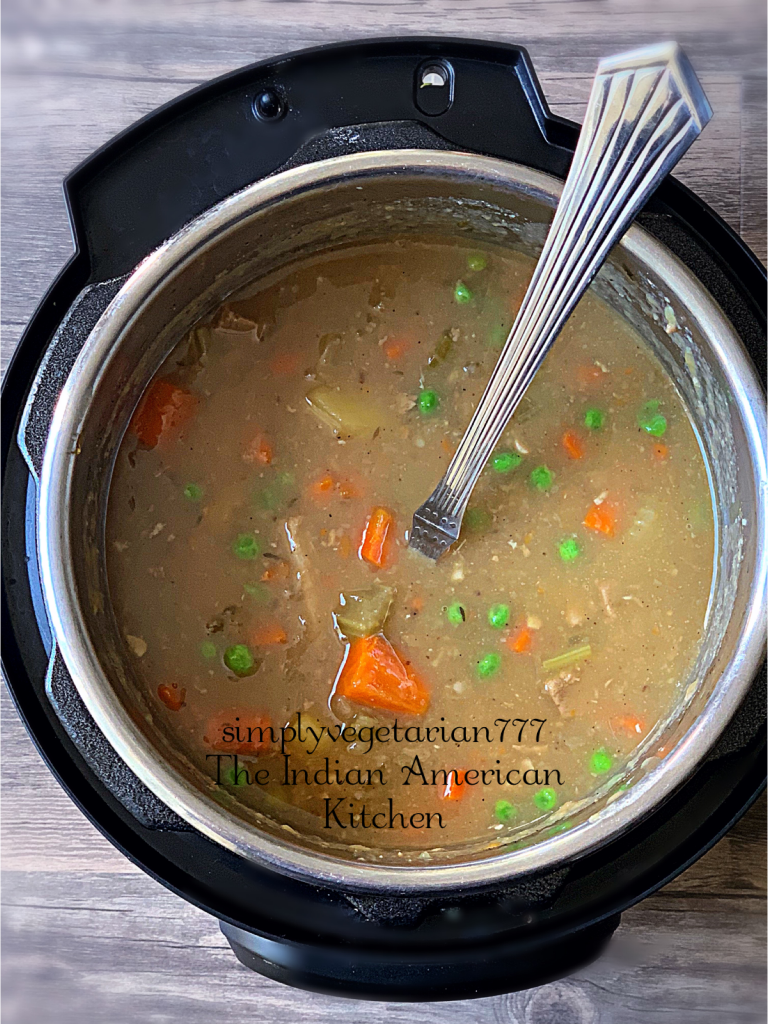 Instant Pot Vegan Beef Stew is a vegan version of Classic American Beef Stew. It is delicious, comforting and perfect for the fall season. Even meat-eaters would love it. #beefstew #veganbeefstew #instantpotbeefstew #instantpotveganbeefstew