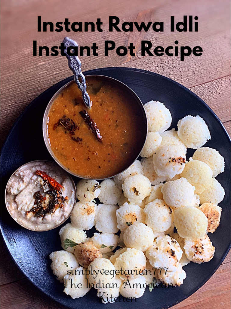 Instant Idli Instant Pot Recipe is made with just 3 ingredients and no prep is needed. It takes less than 10 minutes from start to finish to make this recipe. Instant Idli is so easy, light and quick to make that you will make it often. #instantpotrecipes #indianinstantpotrecipes #instantpotidli #healthyrecipes #semolina #miniidli #idli