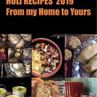 The collection of Holi Recipes for 2019 has delicious recipes from my kitchen. There is Gujiya recipe, Mawa cake, Thandai pudding and few others. Save and Share it with your family and friends. #Indianfestivalrecipes #Holirecipes #gujiyarecipe #karanjirecipe #thandai #mawacake #custard #kanji