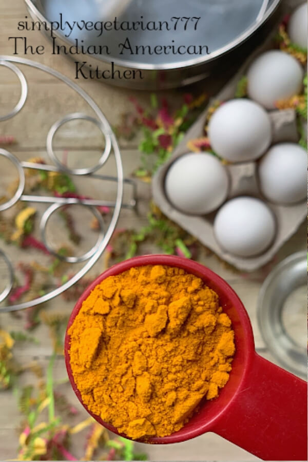 Ingredients used in making yellow dye for easter eggs