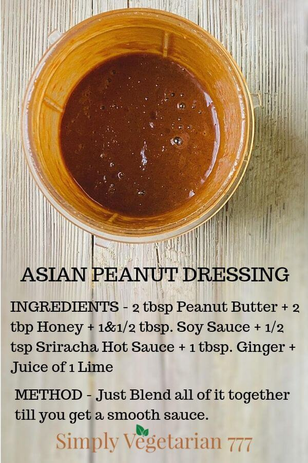 How to make Asian Dressing at home with peanuts?