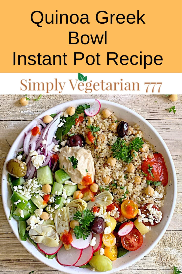 Salad is a yummy, easy & quick Healthy Salad Recipe. Since this Instant Pot Quinoa Salad is done in only 2 minutes, it is great for your light lunches or busy weeknight meals. You also get the Recipe for Spicy Roasted Pepper Sauce along with a short video. #instantpothealthyrecipes #quinoasaladrecipe #mediterraneanquinoasalad #roastedpeppersauce