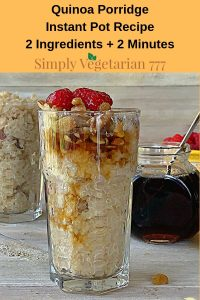 Electric Pressure Cooker Vegan Quinoa Porridge
