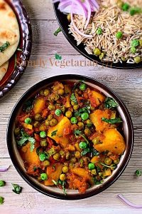 What to serve with Aloo Matar for a meal?