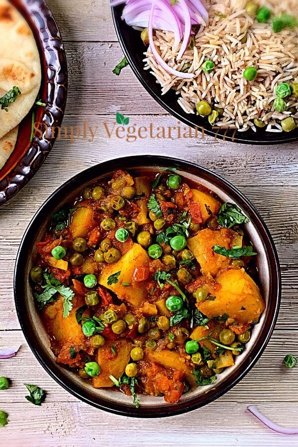 Instant Pot Aloo Matar Recipe Vegan Indian Curry Simplyvegetarian777