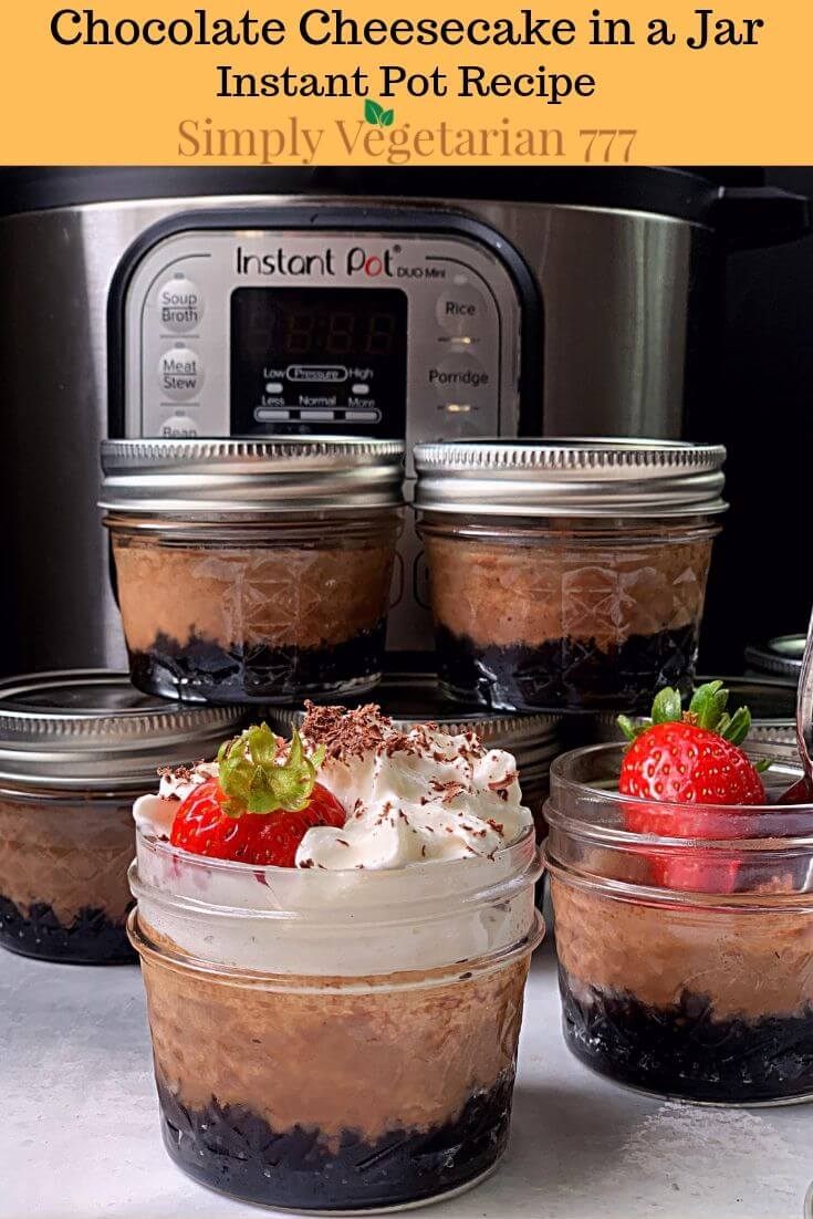 Chocolate Cheesecake in a Jar Instant Pot Recipe