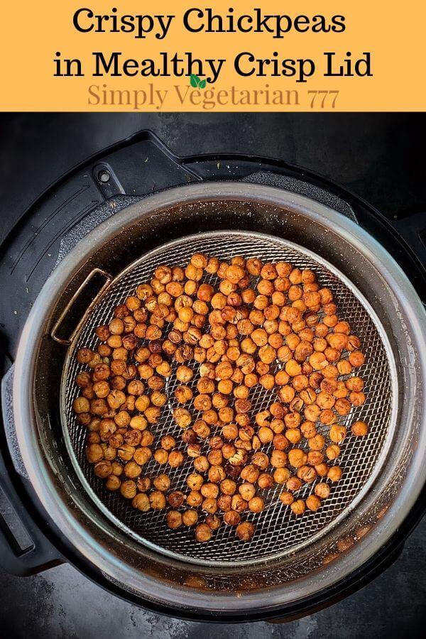 how to make Crispy Chickpeas in Mealthy Crisp Lid