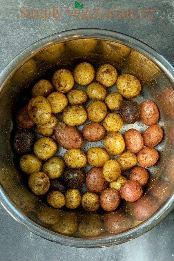 How to make Instant Pot Spicy Baby Potatoes