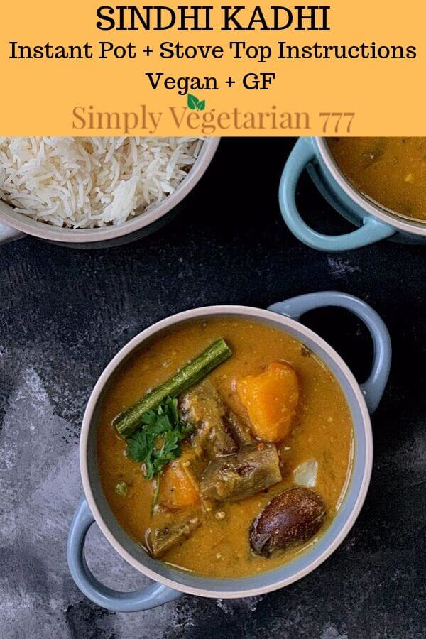 Instant pot Sindhi Kadhi recipe
