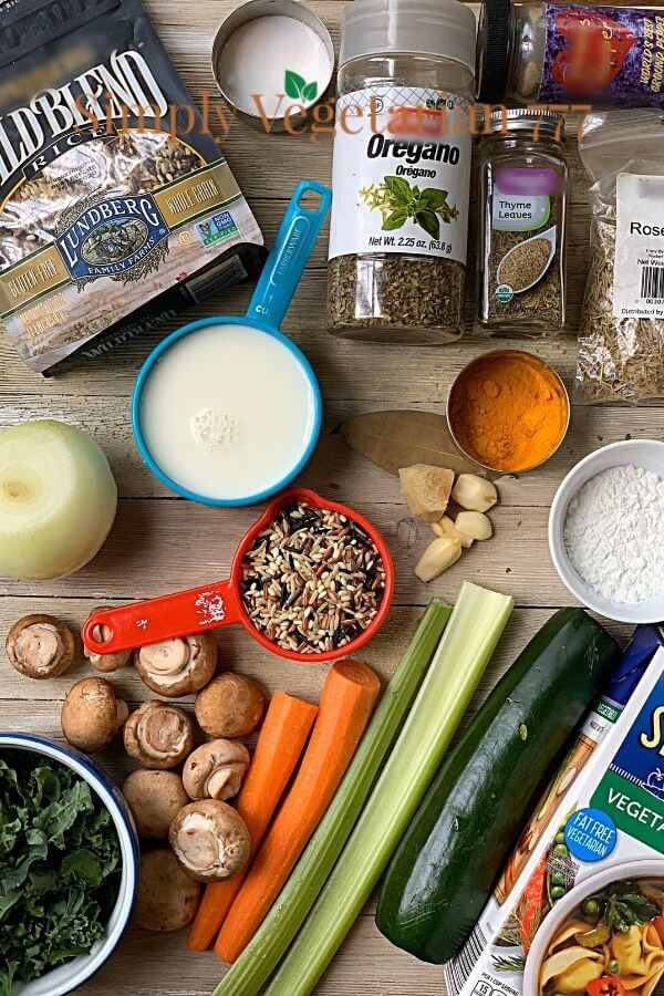Ingredients of Wild Rice Soup