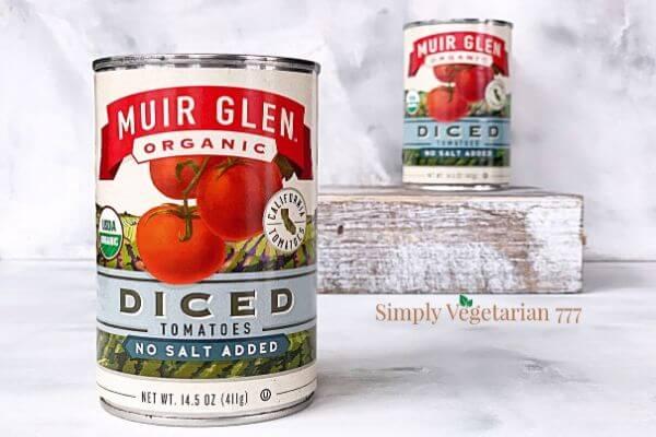 Muir Glen Canned Tomatoes No Salt