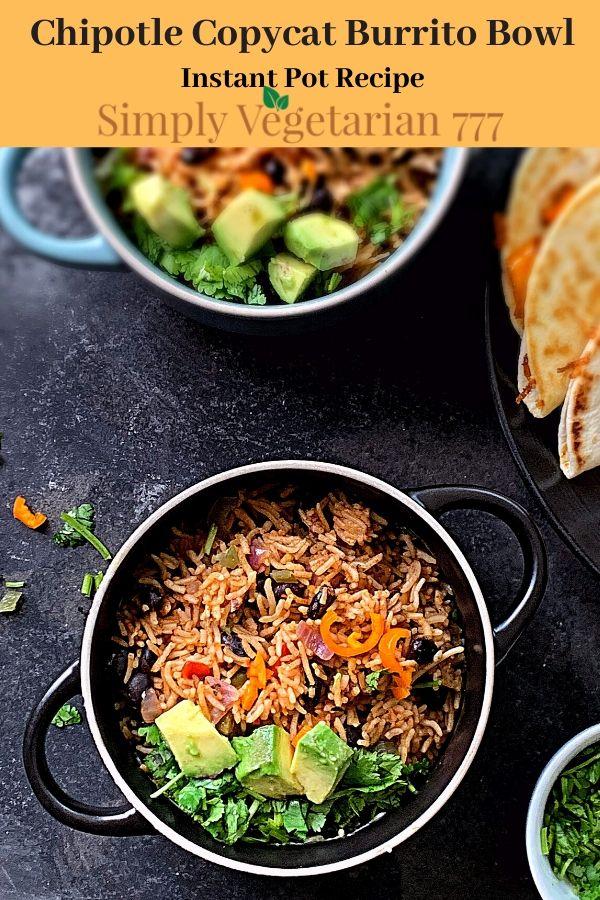 Instant Pot Chipotle Burrito Bowls