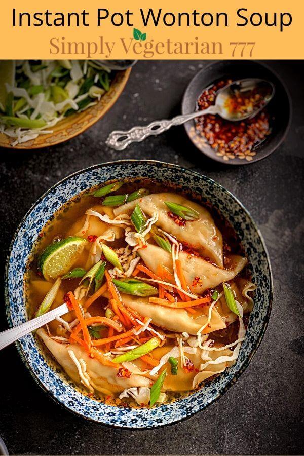 Easy Wonton soup recipe in instant pot
