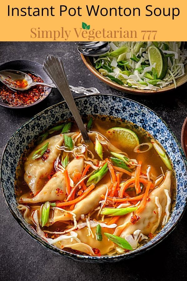 how to make wonton soup in instant pot