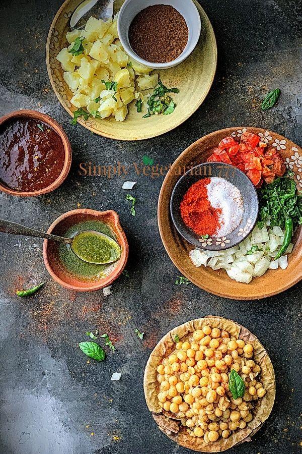Matar Chaat Ingredients