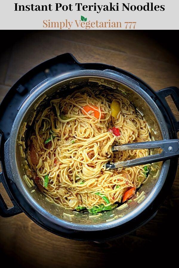 Teriyaki Noodles Instant Pot Recipe