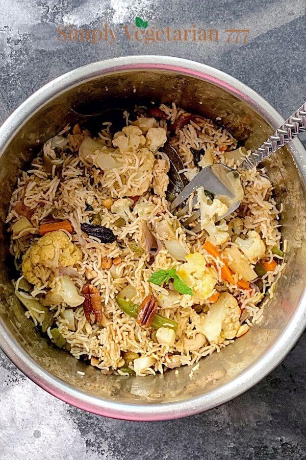 instant pot kashmiri pulao recipe