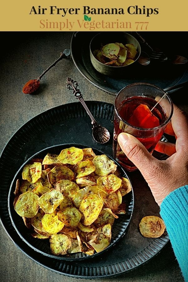 air fried banana chips easy recipe