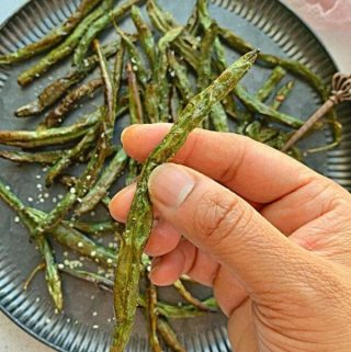 how to make green beans crispy in air fryer?
