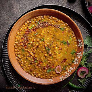 Instant Pot Sabut Masoor Dal