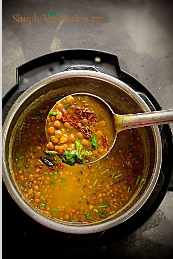 how to make sabut masoor in electric pressure cooker?