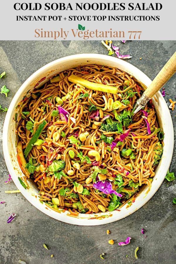 How to make Soba Noodles salad
