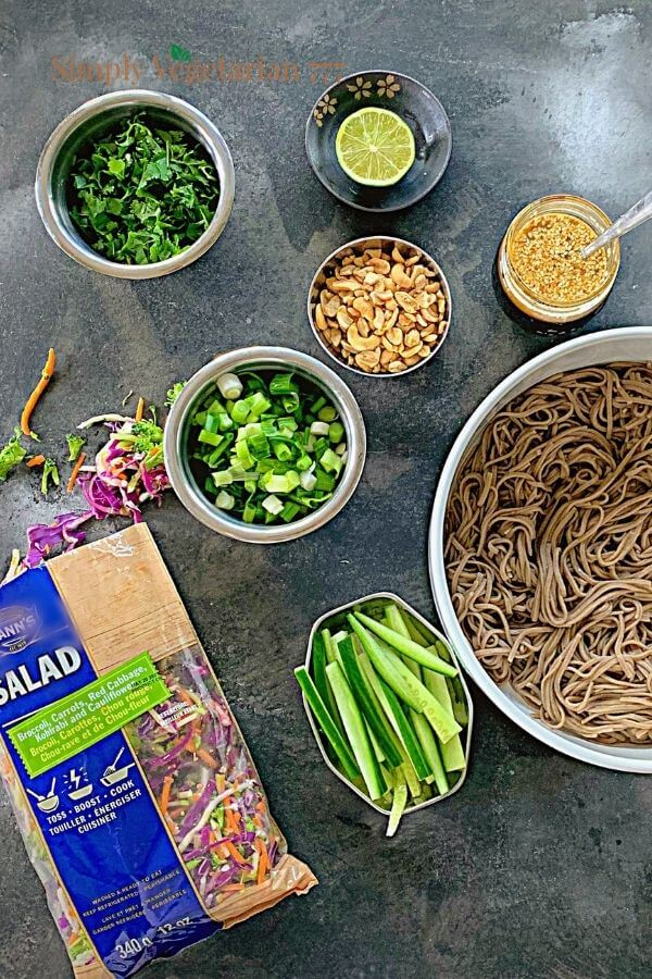 What are the ingredients of the Noodle Salad?