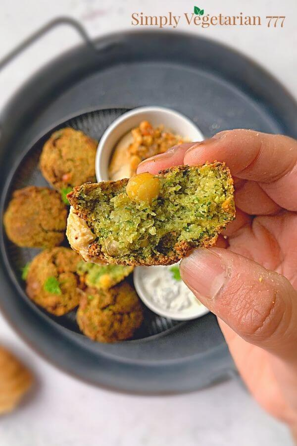 how does the inside of falafel look?