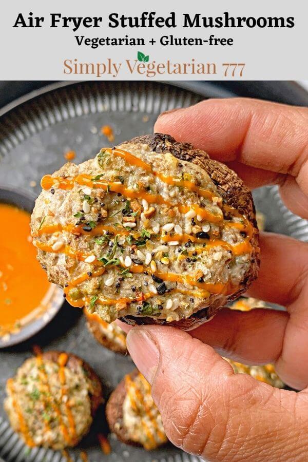 How to make stuffed mushrooms in air fryer?